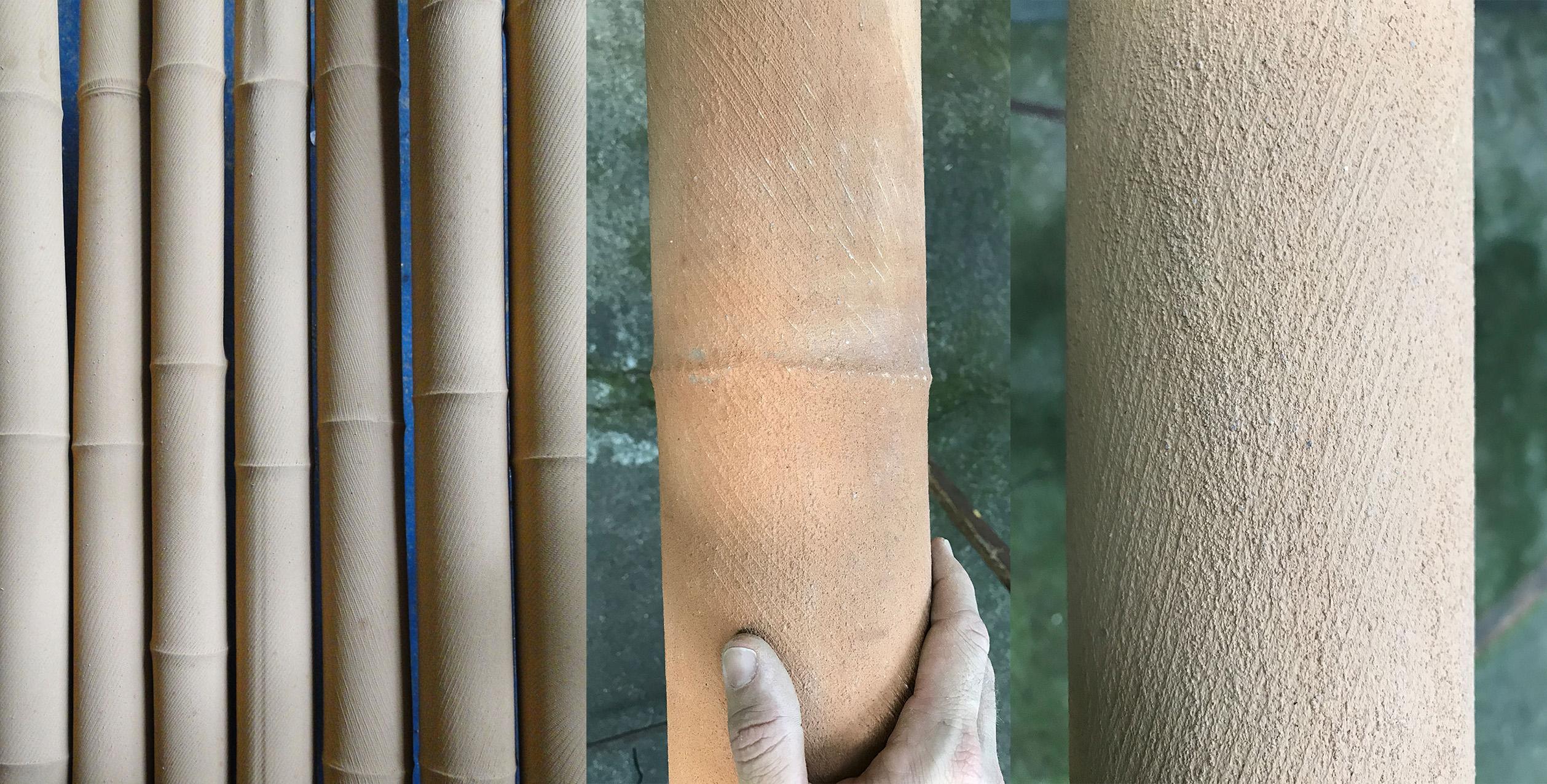 Encapsulation-of-bamboo-poles-1st-coat-cotton_earth_pva-glue.jpg
